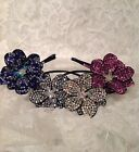 Diamante Crystal Rhinestone Flower Alice Hair Headband Sparkle hair accessory