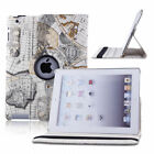 """New 360 Rotating Folio Leather Case Smart Cover Stand For 9.7"""" Apple iPad 2 3 4"""
