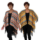 New Women African DIVA Shawl Batwing Cape Knit Poncho Top Cardigan Pullover