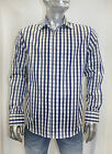 Men's Rufus Plaids Royal/Navy/White/Grey Long Sleeve Button Down Shirt