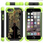 """For Apple iPhone 7 Plus Case (5.5"""") Dual Bumper Kickstand Defender Green Cover"""