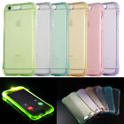 LED Flash Soft TPU Silicone Back Case Cover Skin Incoming Call For Samsung Slim