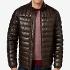 Tommy Hilfiger Men's Quilted Faux-Leather Puffer Jacket -...