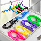 Colorful Portable Folding Plastic Travel Foldable Clothes Hanger Laundry Rack