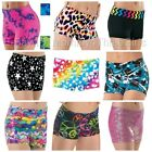 NEW Fun Wild Print Dance Gymnastics Cheer Booty Mini Bar Shorts Child & Adult