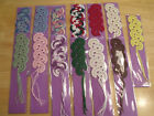 Handmade Crochet Fan Bookmark 100% cotton for Animal Friends Rescue Project AFRP