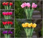 x12 Artificial Tulip Flowers for Bridal Wedding Bouquet or Home Office Decor