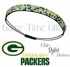 Green Bay Packers Team Color Womens Rhinestone Bling Headband Wear w/ Jersey NWT