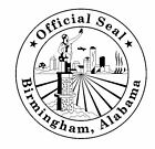 Seal Of Birmingham Alabama Sticker / Decal R700