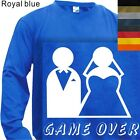 MEN'S T-SHIRT LONG SLEEVE  GAME OVER - HUMOR #131-S to 4XL PLUS