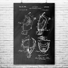 Gas Mask For Breathing Apparatus Poster Vintage Patent Print Wall Art Gift Decor