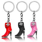 1 Key Ring Chain Keyfob Pendant High Heel Shoes Boots Strass Rhinestone Women
