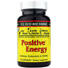 """Y.S Organics Bee Farms """"Positive Energy"""" -35 Caps (2 or 3 Pack)"""