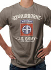 US Army 82nd Airborne Div Military Themed T-Shirt Brown Heather S M L XL XXL