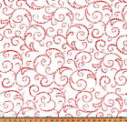 Premier Prints Scroll Lipstick Twill Fabric, Red White Home Decor Fabric Yardage