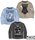 Official Star Wars Long Sleeve T-Shirt Darth Vader 3 Styles Ages 6 - 13 Years.