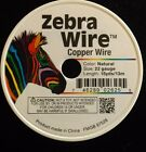 ZEBRA WRAP WIRE NATURAL COPPER 20 22 24 GAUGE 15  20 YARDS