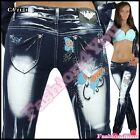 Women's Jeans Ladies Trousers Crazy Age Casual Tattoo Jeans Size 6,8,10,12,14 UK