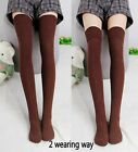 Womens Cotton THICK WARM Extra Long Thigh High Argyle Knit Hosiery Boot Socks