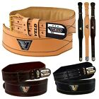 """VELO Weight Lifting 4"""" Leather Belt Gym Back Support Straps Power Training"""