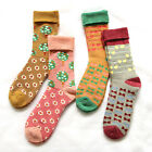 2 Pairs Womens Sweet Design Cotton THICK WARM SOFT Winter Boot Socks Size 5-8