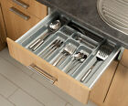 Grey Cutlery Tray Box Insert Cabinet W:30-90cm Kitchen Drawer Storage Organiser