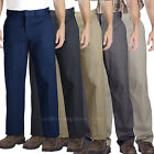 Dickies Pants Mens Relaxed Straight Fit Twill Work Pant WP879 Black Navy Khaki.