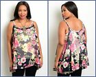 TORRID NAVY FLORAL SHEER CAMISOLE TOP PINUP PLUS 0X 1X 4X 5X NWT