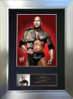 THE ROCK DWAYNE JOHNSON WWE Signed Autograph Mounted Photo Repro A4 Print no477