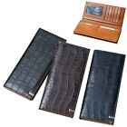 Man Long Wallet Men Long Purse Bill  Card Slot  Gift Item Cow Leather 1179A