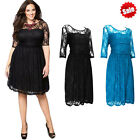 Sexy Lady Women Cocktail Lace Empire Waist Formal Dress Evening Party Plus Size