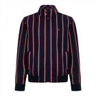 MERC MENS New Navy Witton Harrington Boating Stripe Jacket BNWT