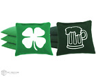 Set of 8 Beer & Shamrock Classic Series Cornhole Bags by Get Outside Games