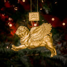 FLYING PUG BAUBLES Set of Four - stunning Christmas decoration - five colours