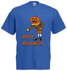 Happy Halloween Pumpkin Man T-Shirt Cool Spooky Humour Funny Party Scary Gift FC