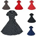 50s 60s Women Housewife Vintage Retro Swing Rockabilly Pinup Lapel Collar Dress