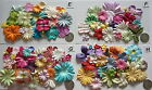 SCRAPBOOKING NO 061 - 18 MIXED PRIMA PAPER FLOWERS - 4 DIFFERENT PACKS AVAILABLE