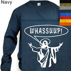 MEN'S T-SHIRT LONG SLEEVE WHASSUUP #130 -S to 4XL PLUS