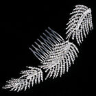 New Design Fashion Women Hair Accessories Feather Crystal Hair Comb Headpiece