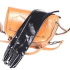 23.5 inches long gloves,Black Lambskin Leather Opera Length Gloves