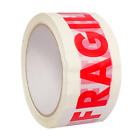48mm x 50m MULTILISTING STRONG FRAGILE PRINTED  TAPE PARCEL PACKING BOX SEALING