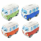 Retro Boxed Ceramic Camper Van Money Box - Choose Colour