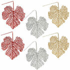 Christmas Set of 2 Decorative Glitter 15cm Leaves - Choose Colour