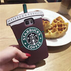 3D Cute Starbucks Coffee Soft Silicone Back Case Cover Skin For Samsung Galaxy