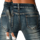Sexy New Women's Wash Blue Stylish Jeans Trousers Skinny Slim With Zipper  I 527