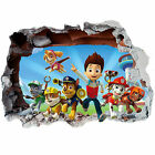 PAW PATROL SMASHED WALL STICKER 3D BEDROOM BOYS GIRLS VINYL WALL ART DECAL DECOR