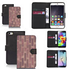 pu leather wallet case for many Mobile phones - cemented wall