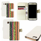 pu leather wallet case for majority Mobile phones - karma white