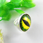 25*25mm Retro Style Dragon Eye Cabochon Glass 5 Colors Cameo Jewelry Rngs Gifts