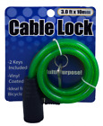 Lot of 3 Bicycle Bike Anti-Theft 3ft Security Steel Cable Lock Chain w/ 2 Keys